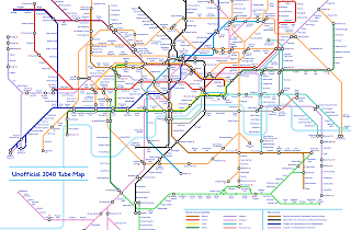 Here's what the London tube map could look like in 2040 on