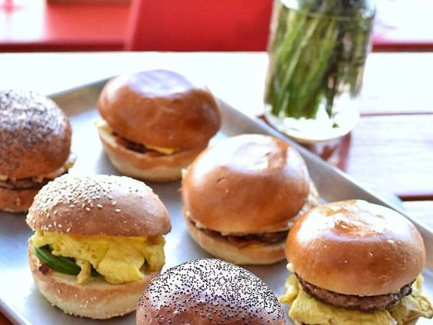 Breakfast sandwiches at The Board