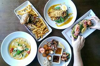Lunch options at Bluewater Cafe