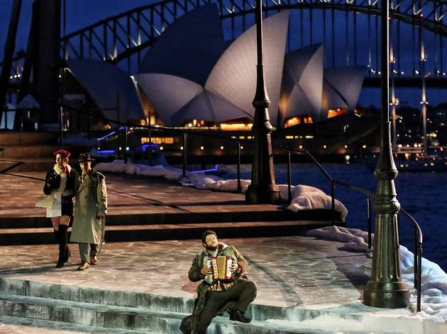 On Stage at La Boheme Opera Sydney Harbour