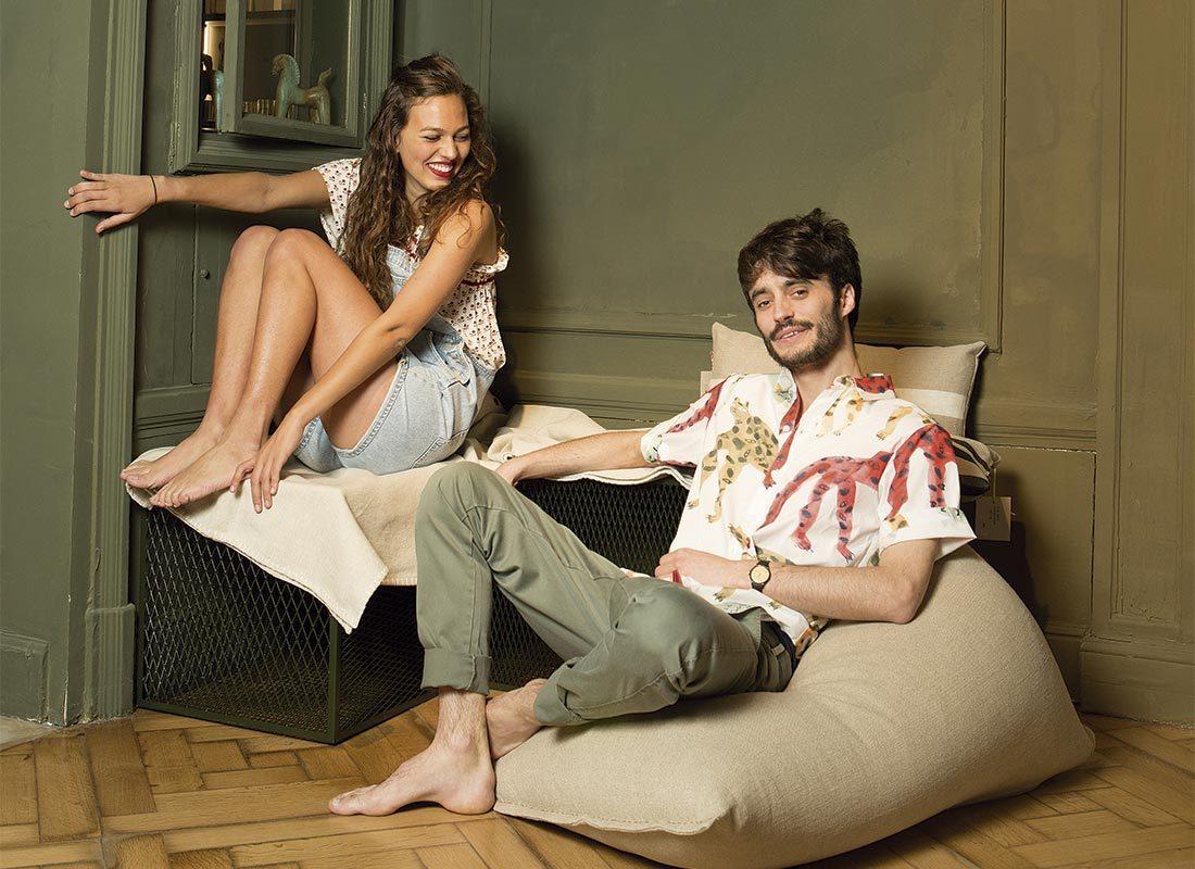 Paloma i Baptiste descalços