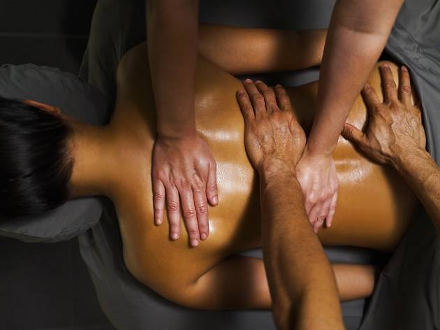 Try the Quartet Massage at the Rittenhouse Hotel