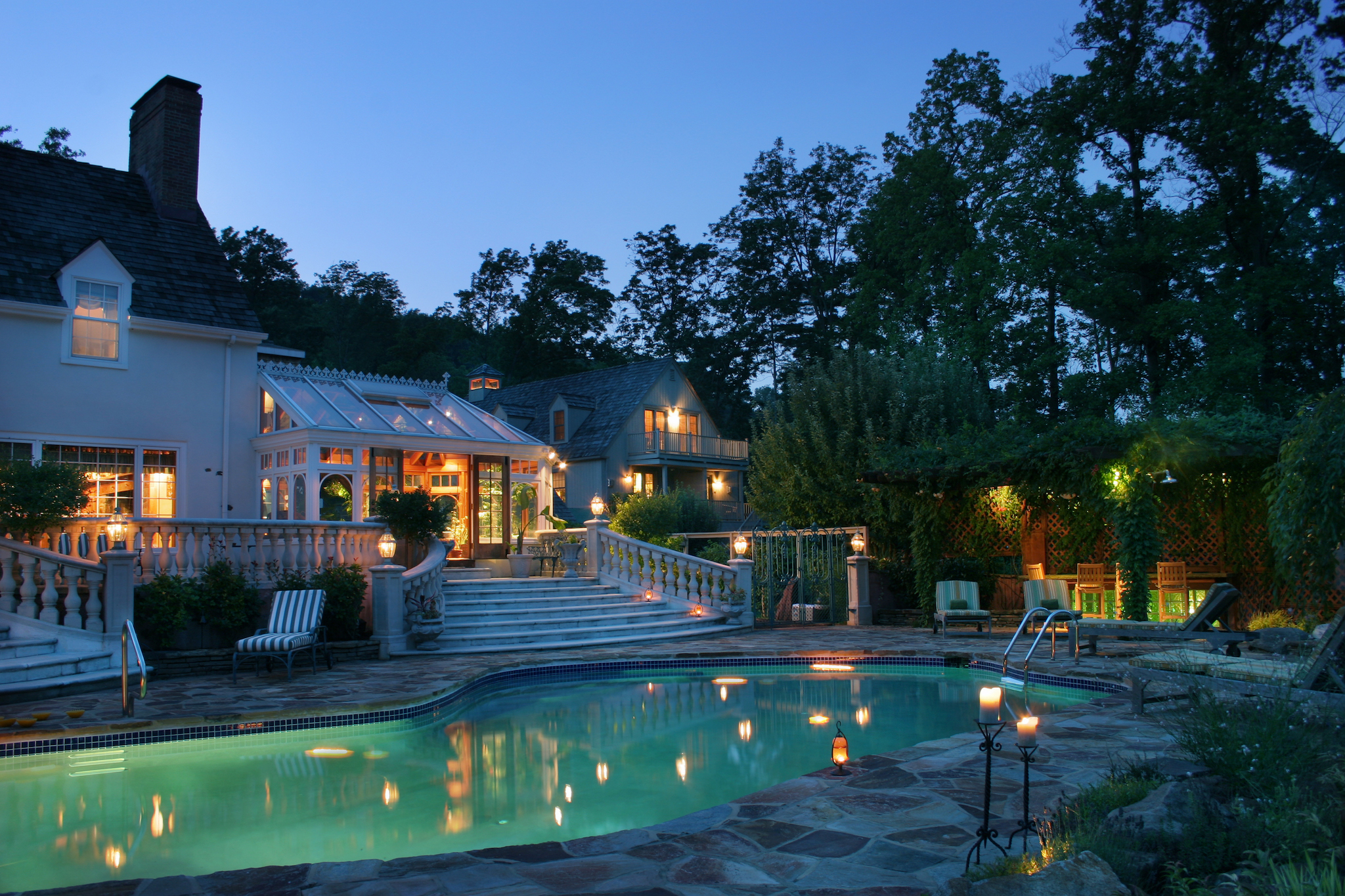 Check out the gorgeous pool at New Hope bed and breakfast Inn at Bowman's Hill