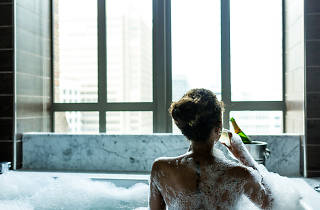 Relax and unwind in a deep soaking tub at Kimpton Hotel Palomar in Philadelphia