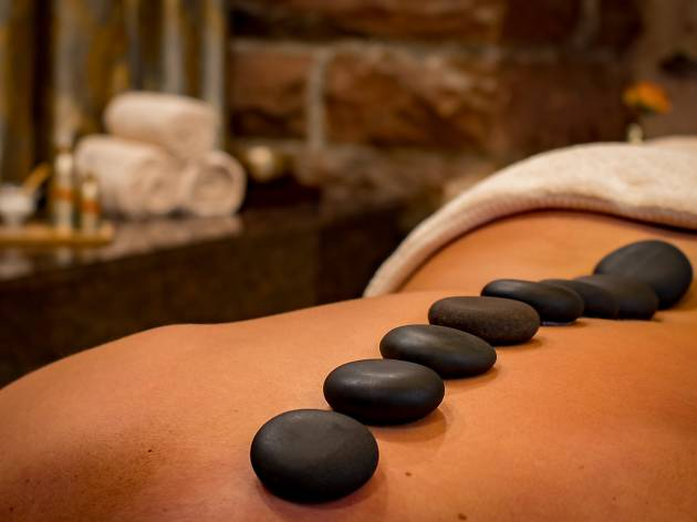 Get a hot-stone massage at one of the best spa hotels in Philadelphia