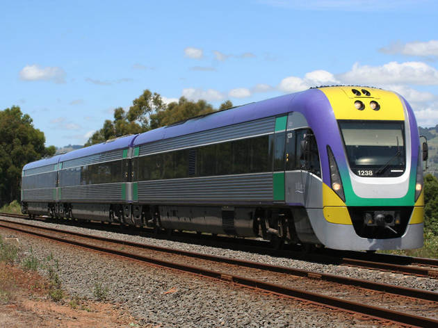 V/Line trains and coaches