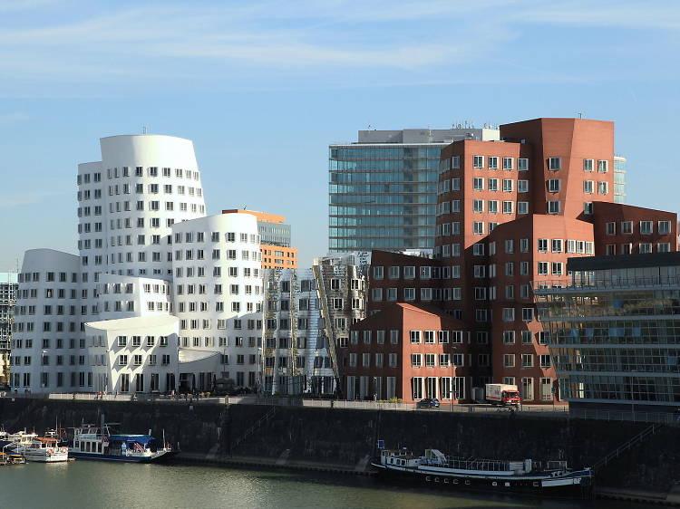Neue Zollhof (aka, the Gehry Buildings)