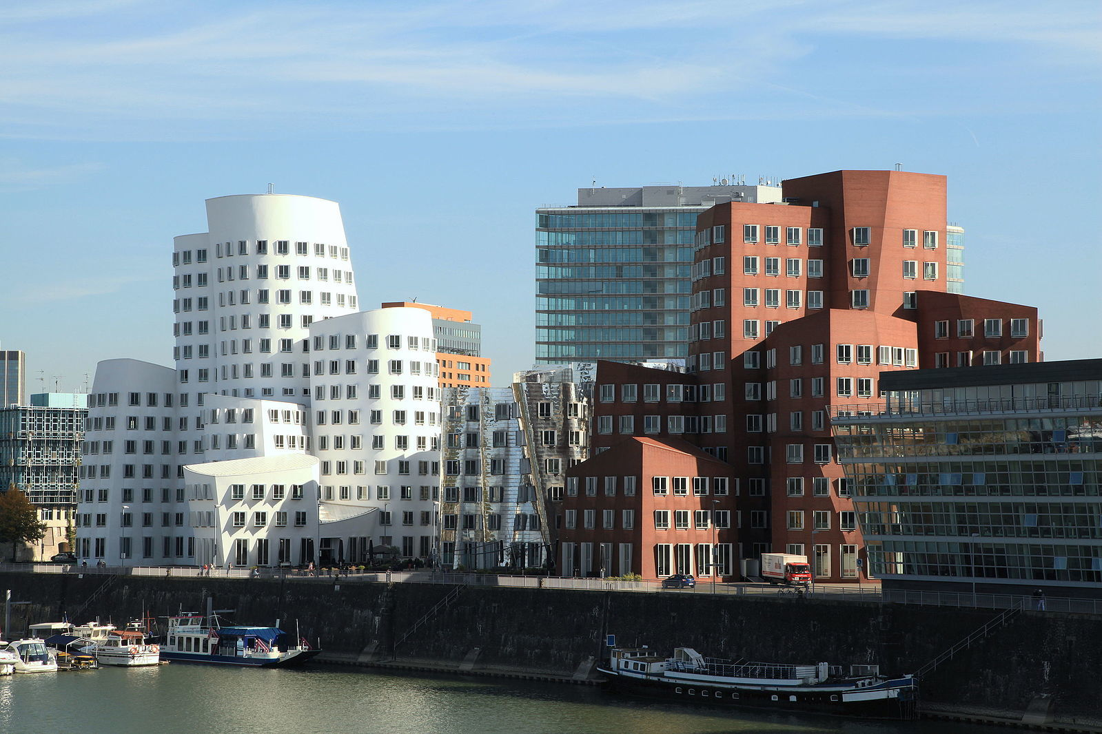 Neue Zollhof, the Gehry Buildings