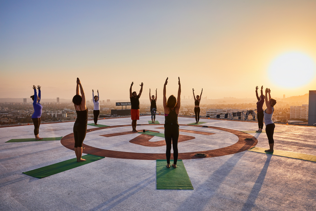 Loews Hollywood Hotel Helipad Yoga