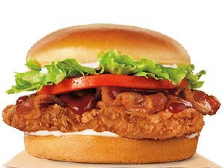 Spicy Chicken Crisp Bacon Cheese ($49)
