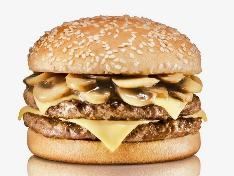 Double Mushroom Swiss Burger ($50)