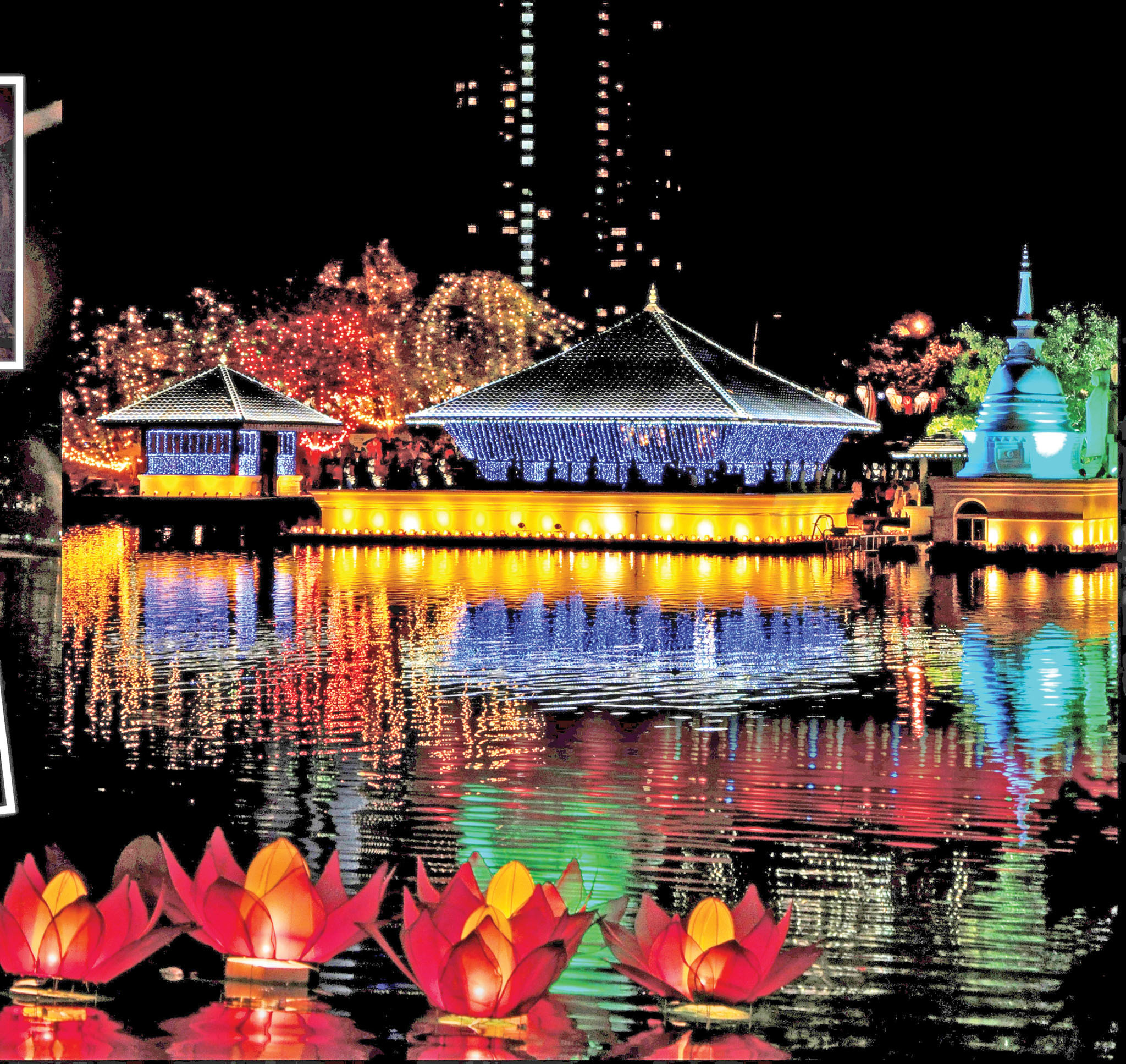 Vesak is the most important day for Buddhists in Sri Lanka.