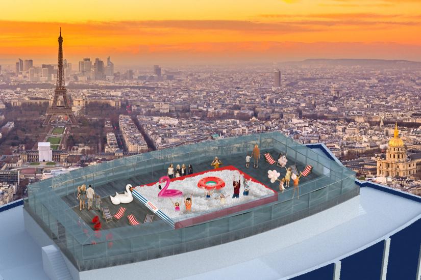 Une piscine à balles en haut de la tour Montparnasse pour retomber en enfance
