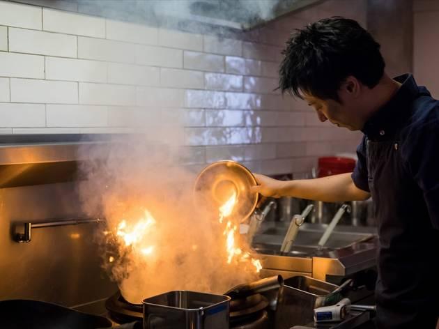 Inside kitchen at Gogyo Sydney