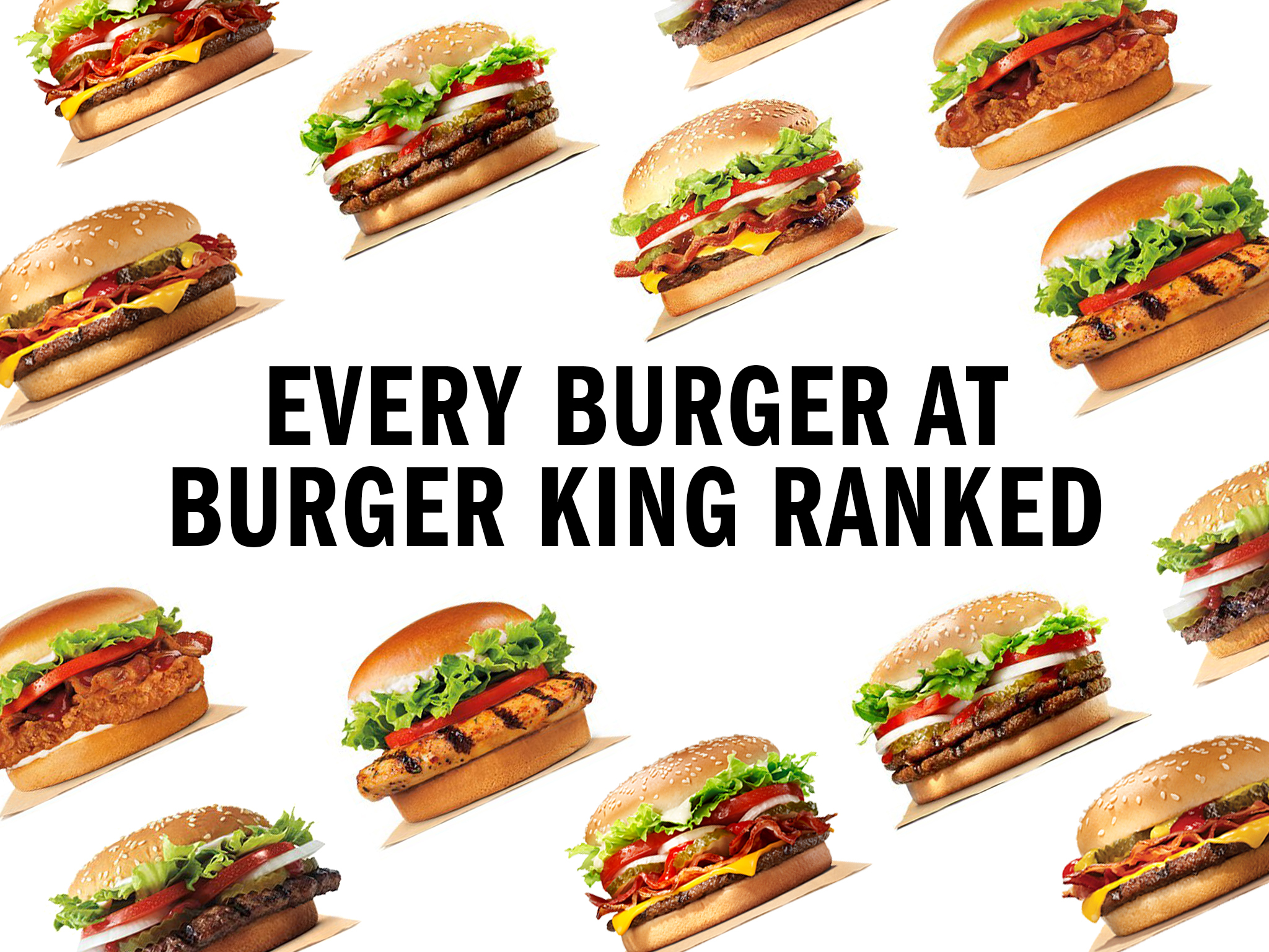 Every Burger King burger ranked from worst to best