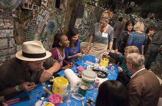 Philadelphia's Magic Gardens hosts a late-night party each summer called Twilight in the Gardens.