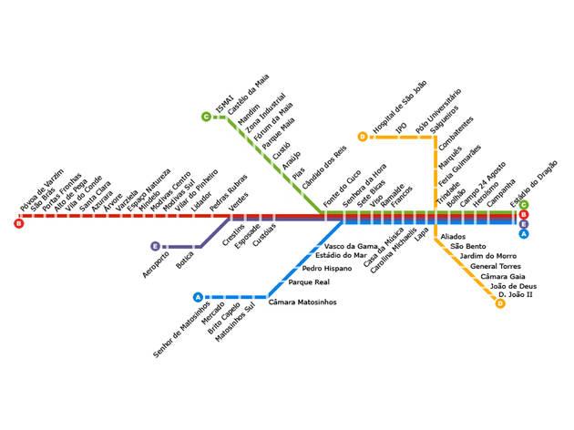 Diagrama Metro do Porto