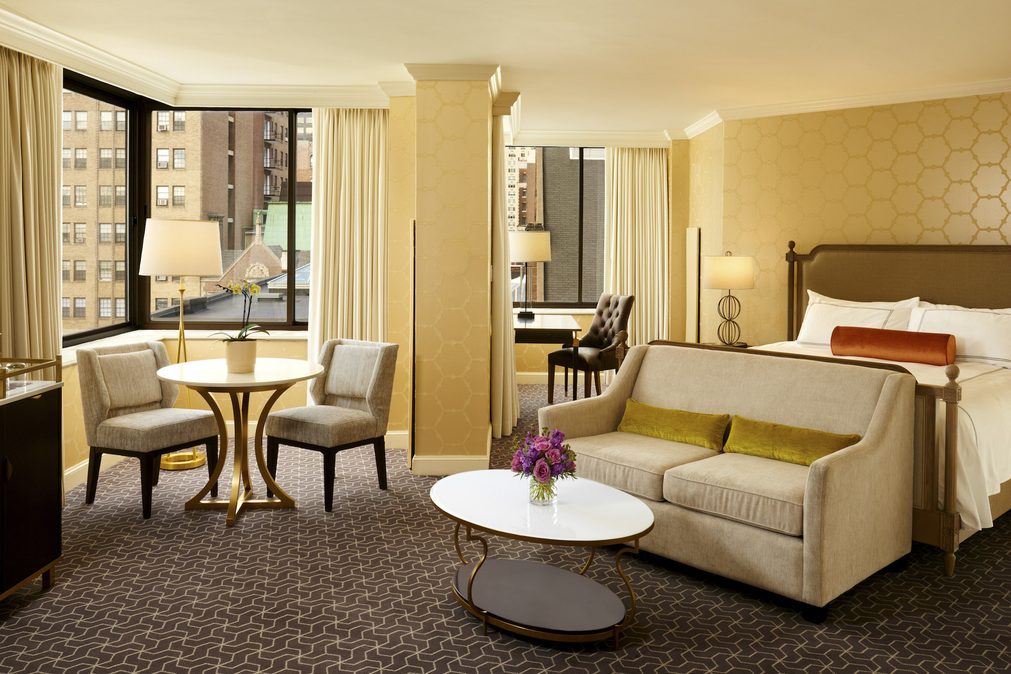 The Rittenhouse Hotel is a luxury hotel located in Rittenhouse Square.
