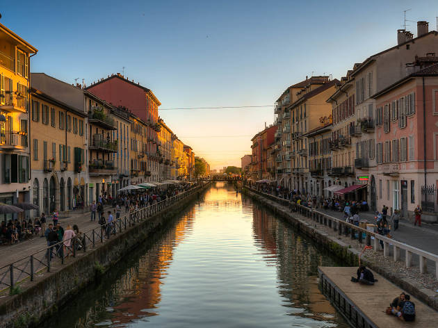 Italy - Milan Canal Sunset