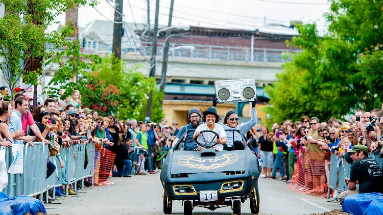 The Kensington Kinetic Sculpture Derby and Trenton Avenue Arts Festival is one of the quirkiest events in Philly.