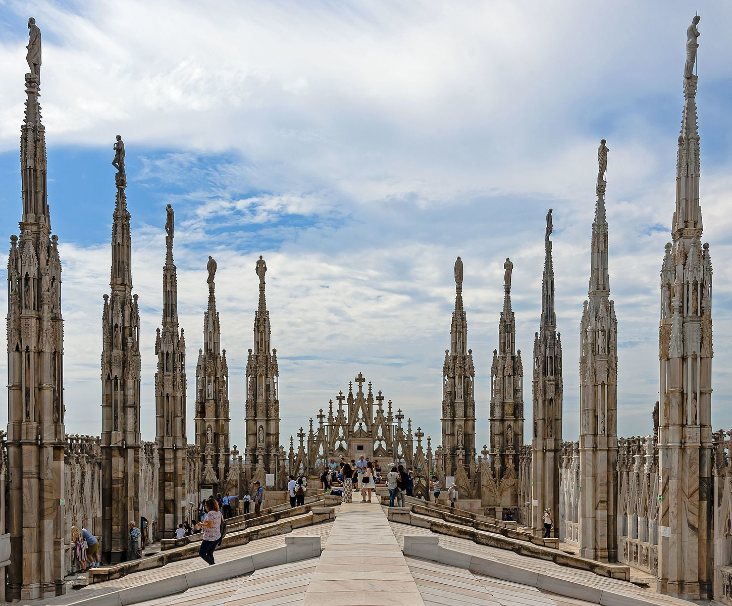 View from the Duomo di Milano rooftop
