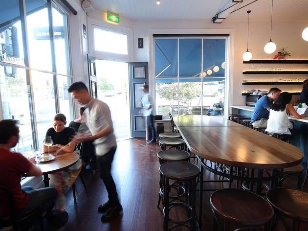People sitting inside at Carlton Wine Room