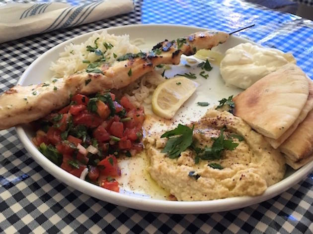 Eat delicious Mediterranean fare at Kanella Grill.