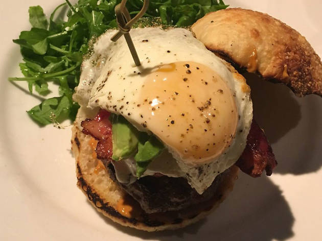 Colorado lamb burger