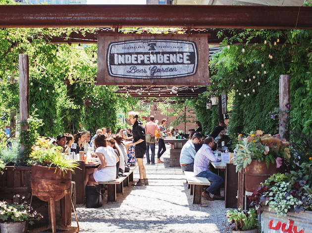 Independence Beer Garden sits in Philadelphia's Historic District