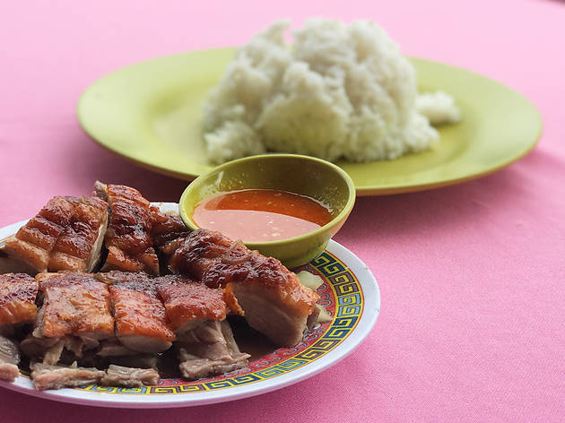 Roast duck rice at Loong Foong Seafood, RM8.50