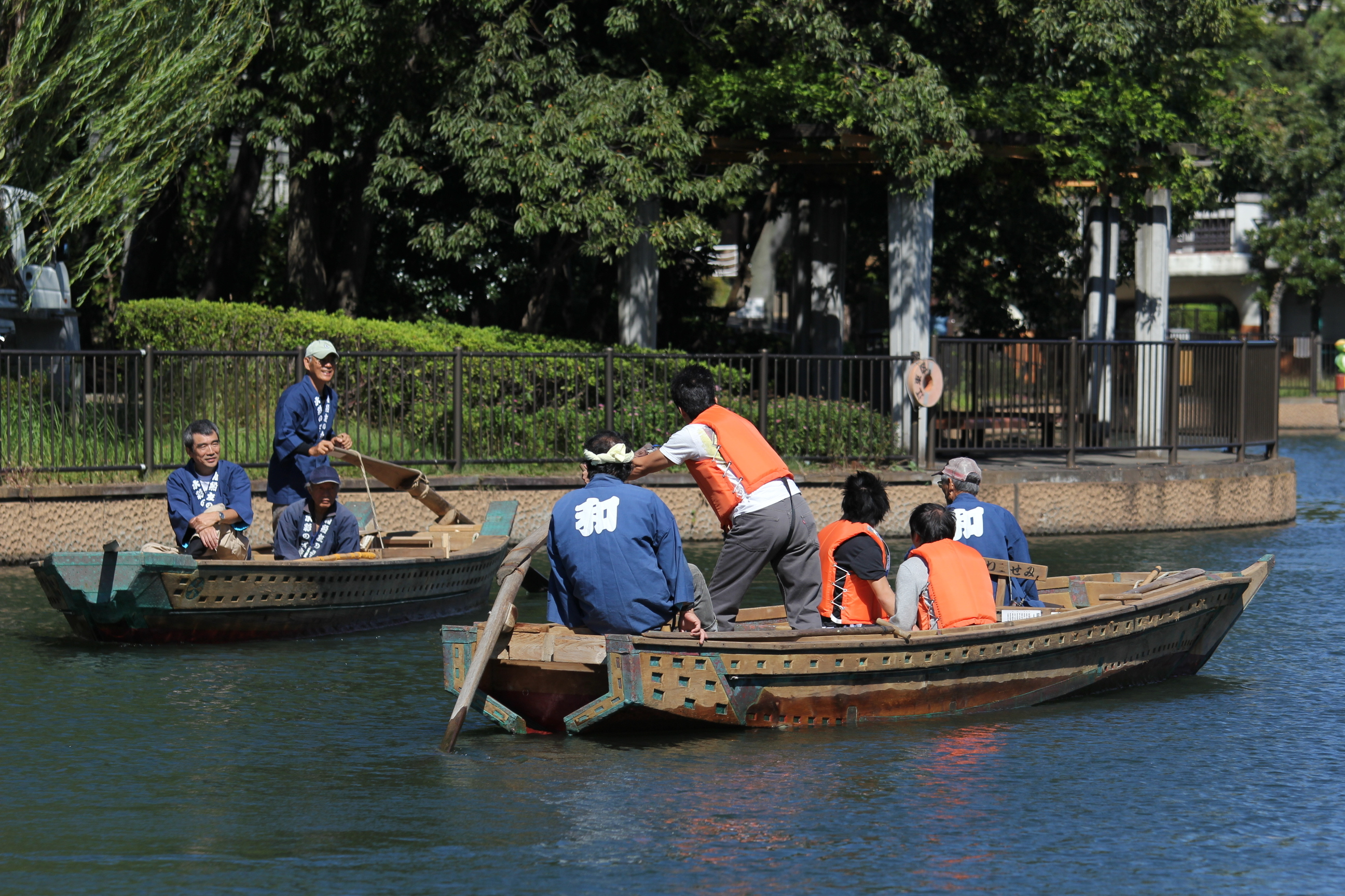 Japanese boats at Yokojikkengawa Shinsui Park