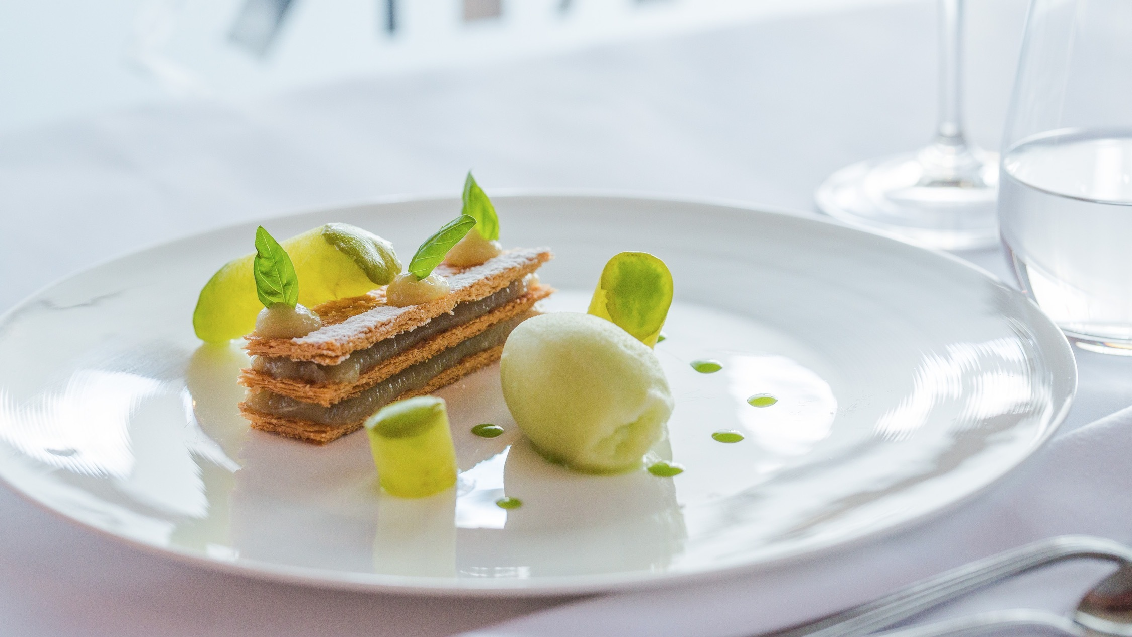 Fennel mille-feuille, basil and Granny Smith apple at Margo Restaurant, $16