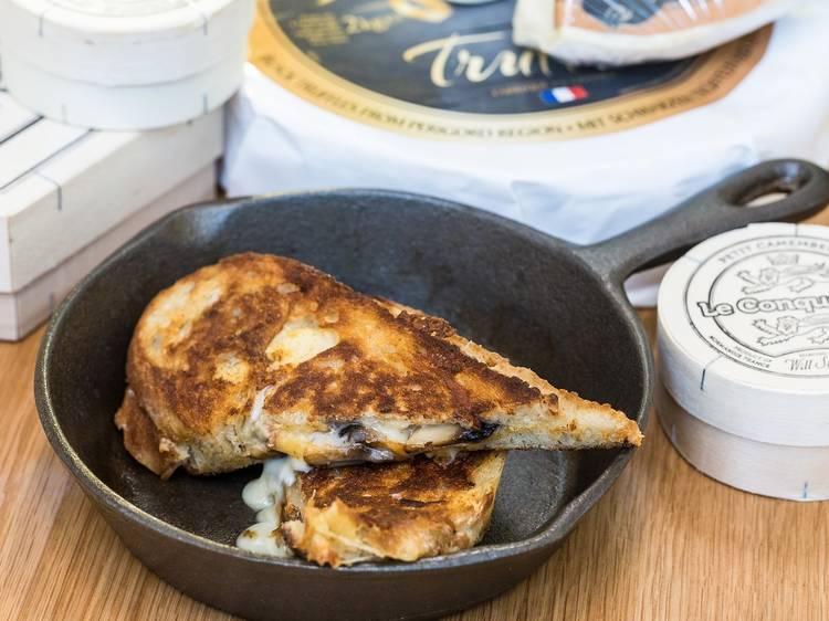 Mushroom and taleggio toastie at the Cheese Pleaser, $12.50