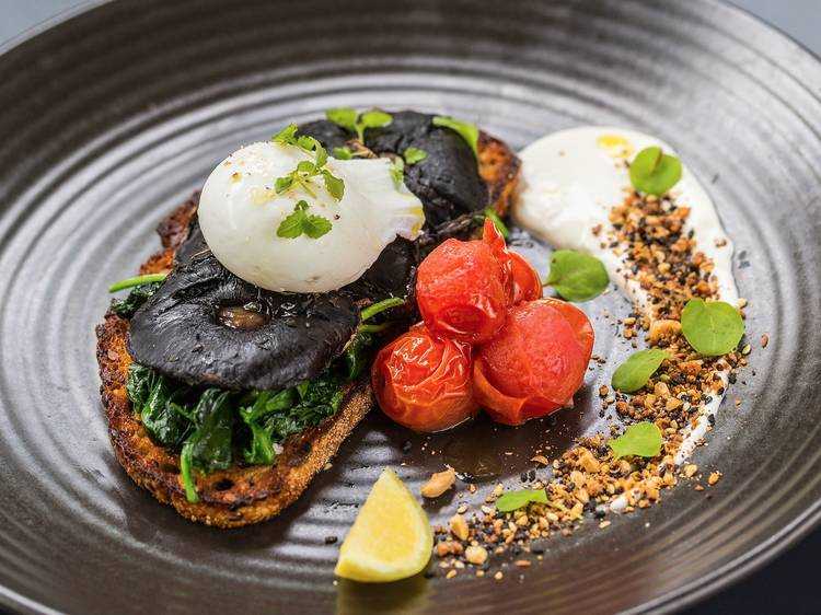 Slow-roasted field mushrooms at Pourboy Southbank, $18