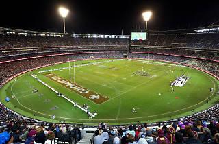Melbourne Cricket Ground overhead shot