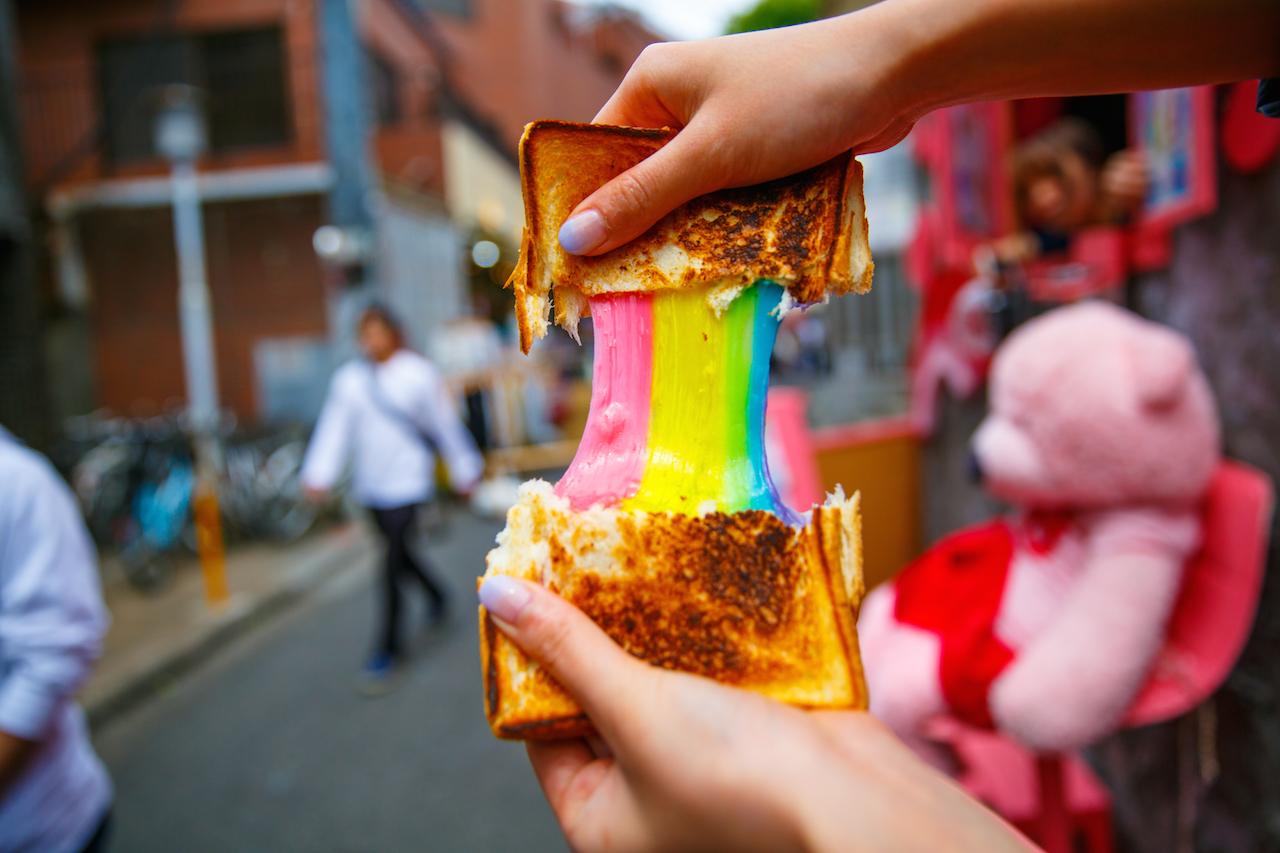 チーズの虹