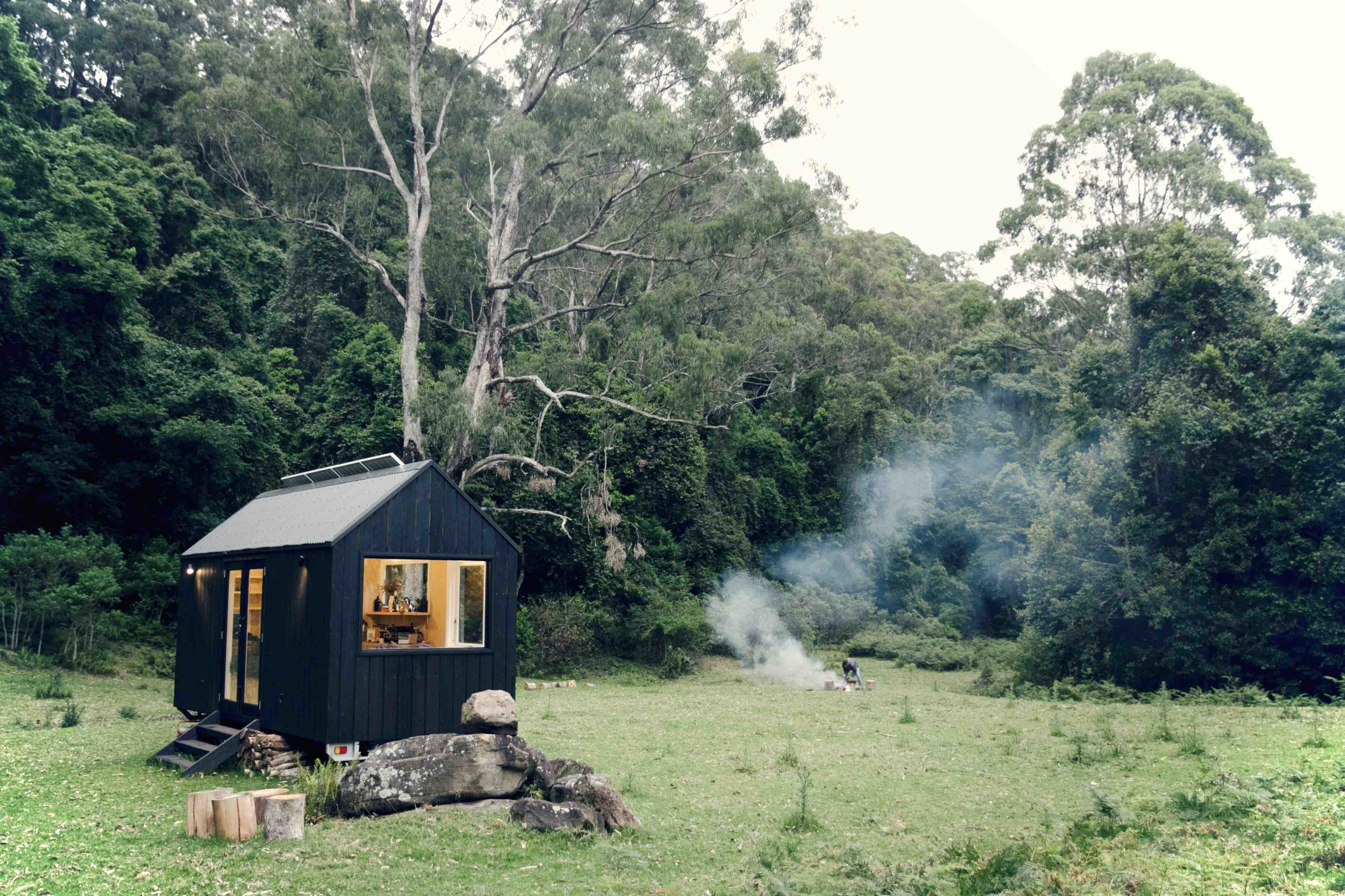 You can stay in a tiny house in the middle of Victoria's wilderness