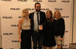 Time Out North America won the Design Team of the Year award at the Folio: Eddie & Ozzie Awards 2017