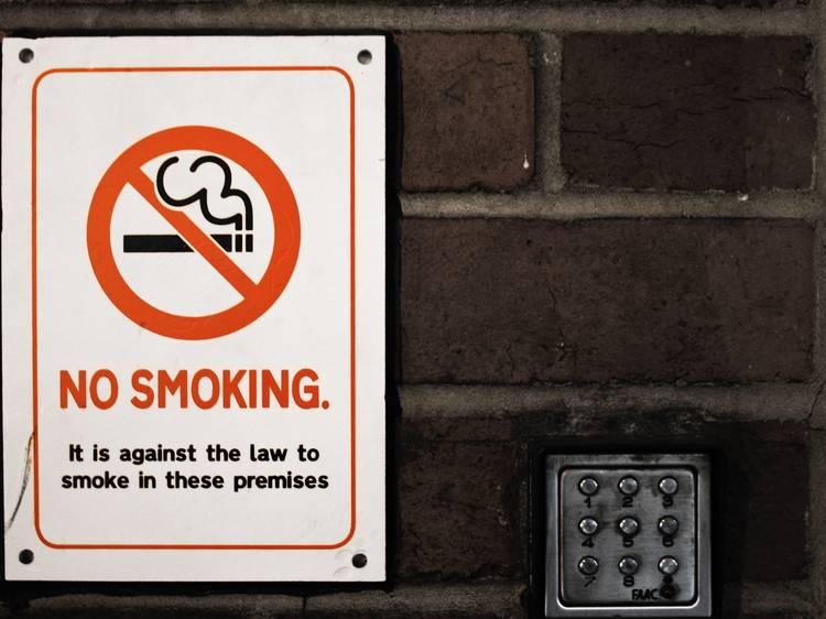 Be aware of smoke-free zones