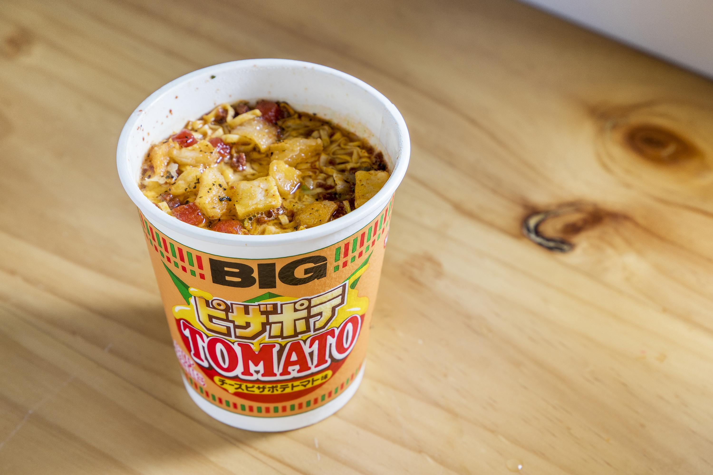 Tomato pizza cup noodles