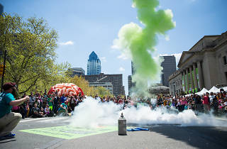 The Philadelphia Science Festival culminates with the massive Science Carnival on the Parkway.