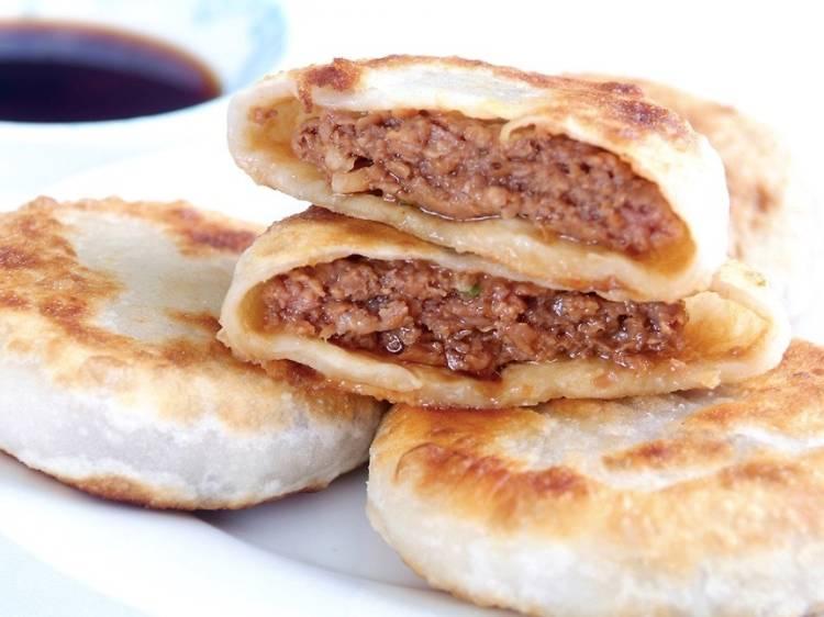 Pan fried beef buns at Islam Food