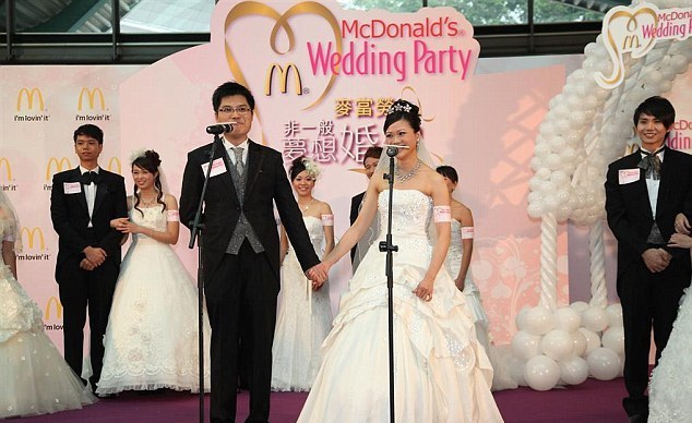 You can get married in McDonald's