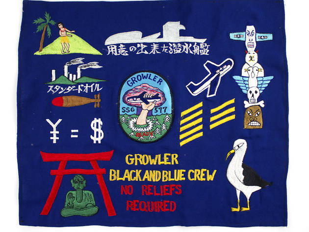 Growler patrol flag, 1962–1963  Collection of the Intrepid Sea, Air & Space Museum. Gift of Duane Heatwole.