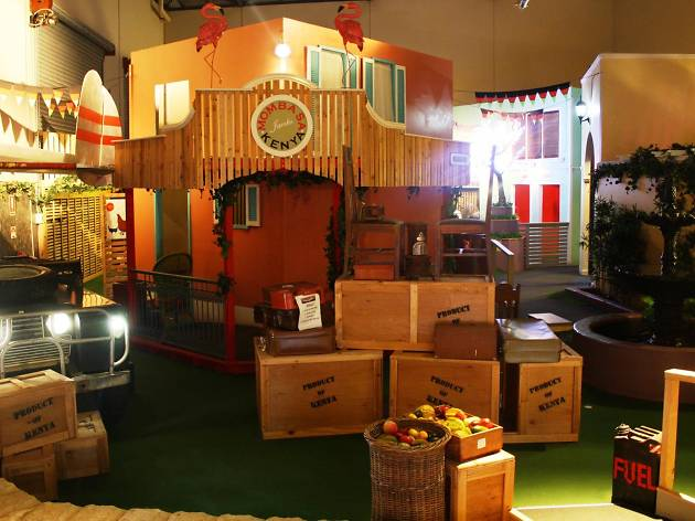 An East African themed mini-golf course
