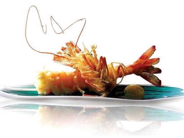 Shikigiku - Japanese live shrimp tempura