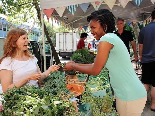 The Clark Park Farmers Market in West Philly boasts vendors who never come from more than 100 miles away.