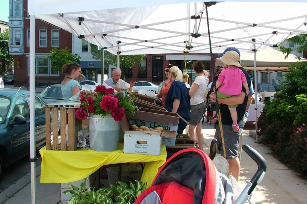 The Fairmount Farmers Market is open on Thursdays throughout summer.