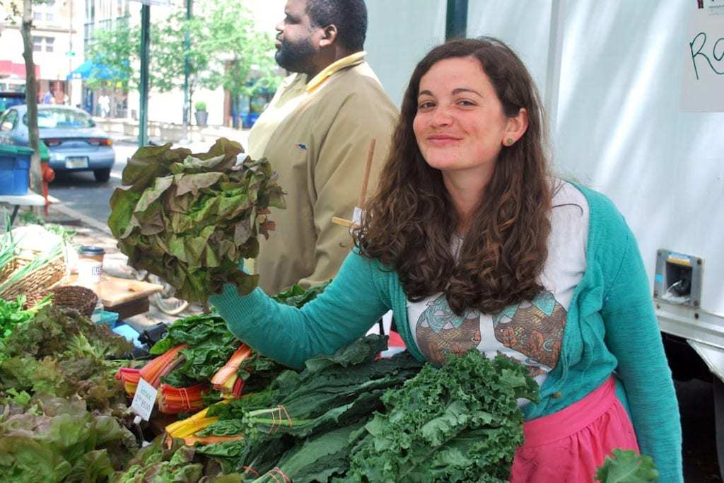The Rittenhouse Square Farmers' Market is open every Saturday throughout the year.