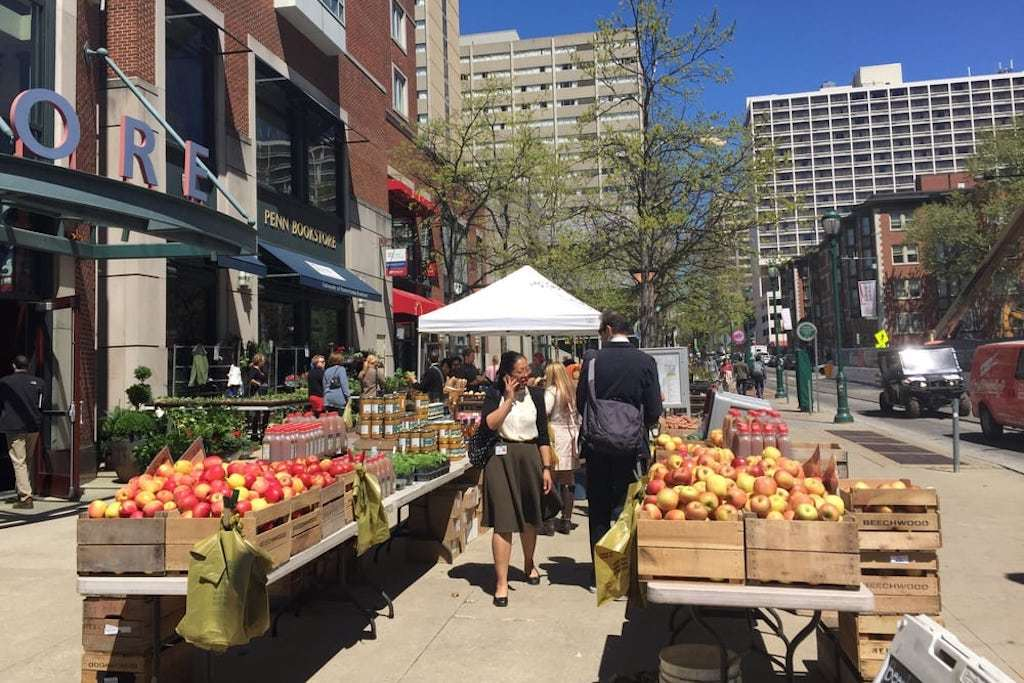 University Square Farmers' Market is open on Wednesdays near the Penn and Drexel campuses